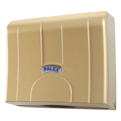 Диспенсер для бумажных полотенец золотой Palex Z-сложения, 3570-G