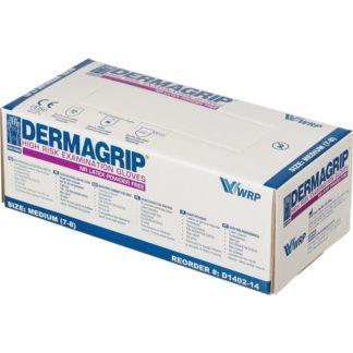 Перчатки латексные повышенной прочности медицинские Dermagrip High Risk, размер XL, 50 шт/упак