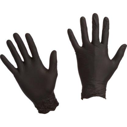 Перчатки одноразовые нитриловые неопудренные черные размер L 50 шт/упак