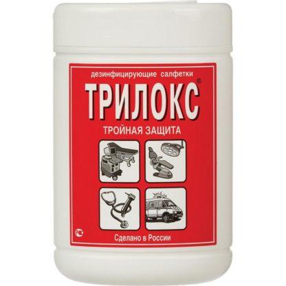Салфетки дезинфицирующие Трилокс (90 штук в тубе) купить в Воронеже недорого, КОРРАД