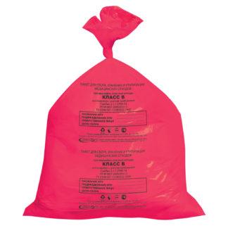 Пакет для медицинских отходов класс В 30 л 50х60 см 15 мкм 50 шт/упак