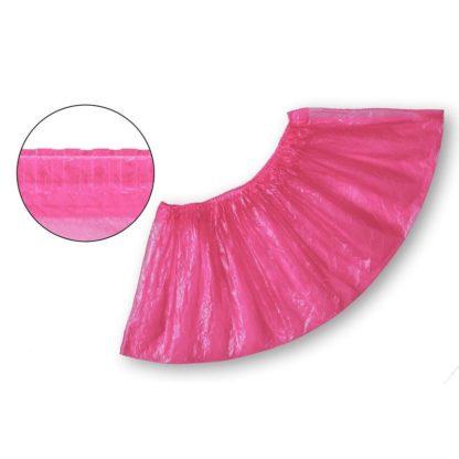 Бахилы одноразовые полиэтиленовые текстурированные 2,8 г розовые 50 пар/упак