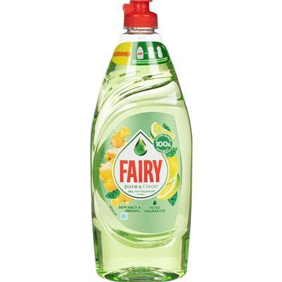 Средство для мытья посуды Fairy Pure&Clean Бергамот и имбирь 650 мл