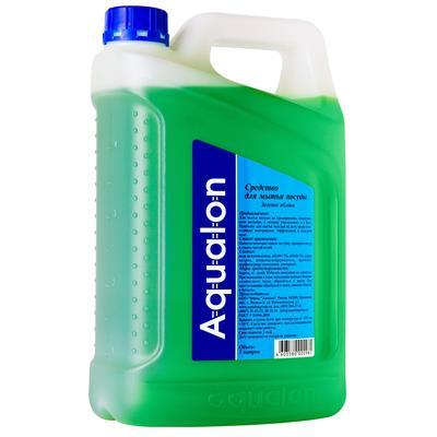 Средство для мытья посуды Aqualon Зеленое яблоко 5 л