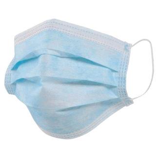 Маски медицинская одноразовые 3-х слойные, голубые,  50 шт/упак