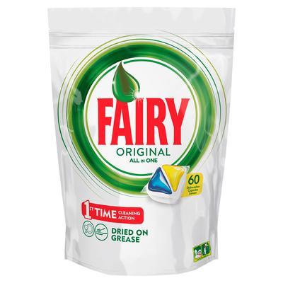 Капсулы для посудомоечных машин Fairy Original All in One (60 штук в упаковке)