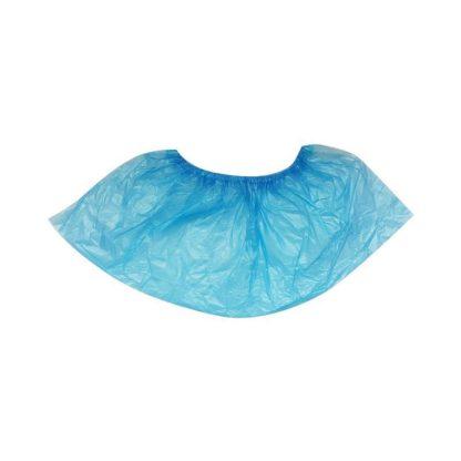 Бахилы одноразовые полиэтиленовые текстурированные Особо прочные 6 г голубые 25 пар/упак