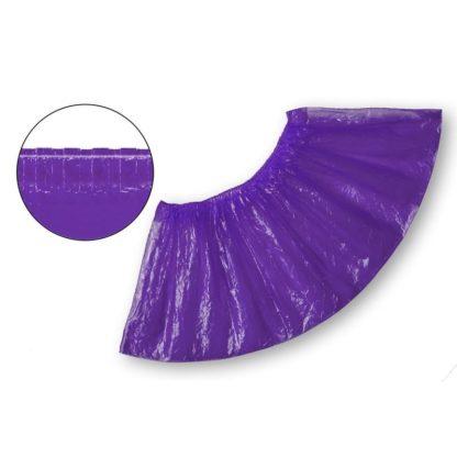 Бахилы одноразовые полиэтиленовые текстурированные 2,8 г фиолетовые 50 пар/упак