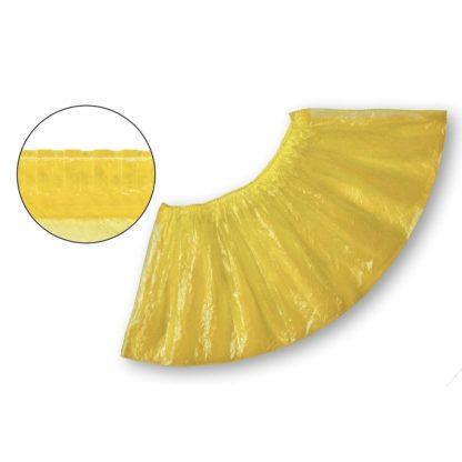 Бахилы одноразовые полиэтиленовые текстурированные 2,8 г желтые 50 пар/упак