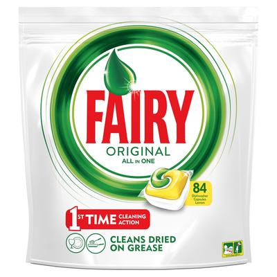 Капсулы для посудомоечных машин Fairy Original All in One (84 штуки в упаковке)