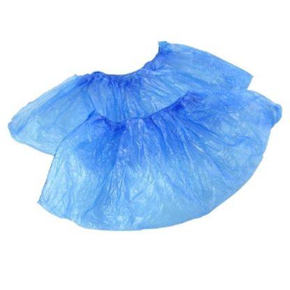 Бахилы одноразовые полиэтиленовые Эконом 1,7 г голубые 50 пар/упак