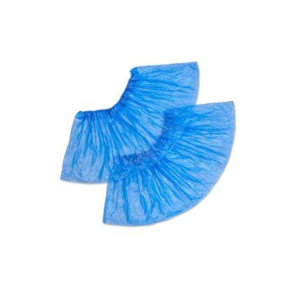 Бахилы одноразовые полиэтиленовые Сверхпрочные 4,1 г голубые 50 пар/упак