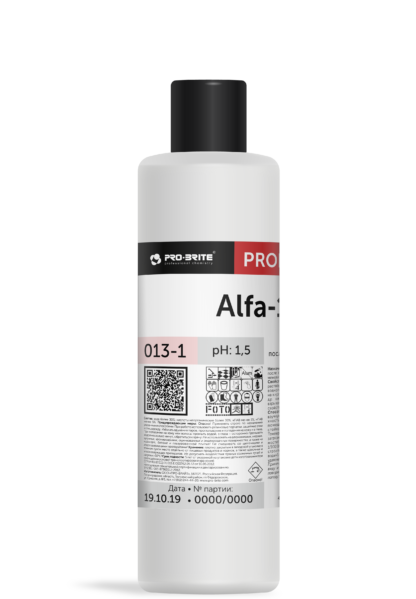 Alfa-19 концентрат для уборки после строительства и уборки 1л
