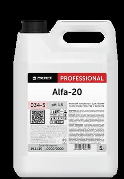 Alfa-20 моющий концентрат для уборки после строительства и ремонта 5л