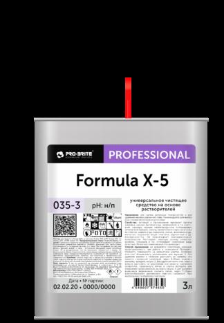 Formula X-5 универсальное чистящее средство на основе растворителей 3л