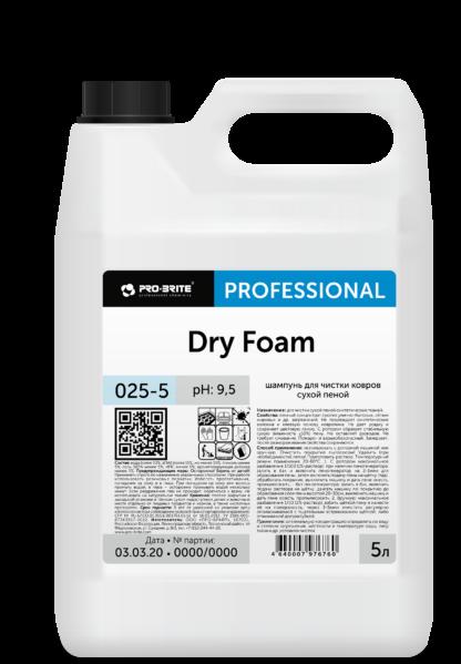 Dry Foam шампунь для чистки ковров сухой пеной 5л