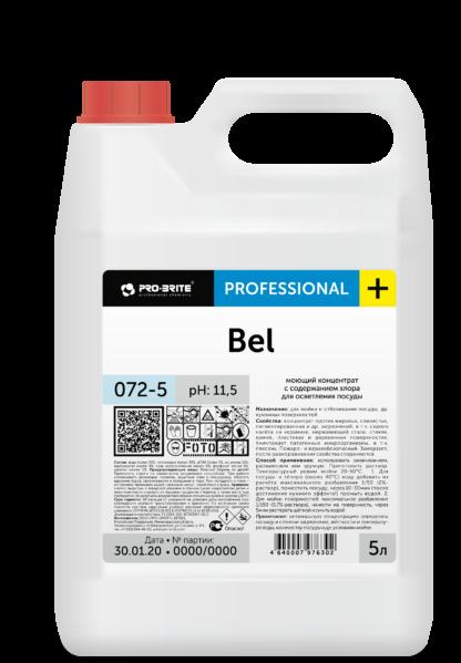 BEL Моющий концентрат с содержанием хлора для осветления посуды 5л