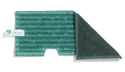 Моп TTS двухсторонний, микрофибра, негладкие поверхности и абразив (зеленый)