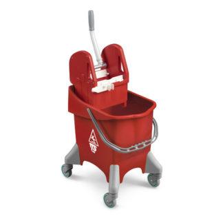 Ведро с отжимом на колесиках TTS Action Pro Dry, 30 л., красное, с отжимом, на колесах