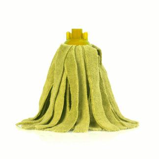 Моп «Кентукки» TTS микрофибра, с резьбовым держателем, 300 гр., желтый