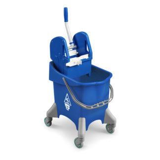 Ведро с отжимом на колесиках TTS Pile Tec, 30 л., синее, с отжимом, на колесах