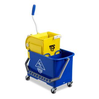 Ведро с отжимом на колесиках TTS Double Bucket O-Key, 20 л., синее, с отжимом, на колесах