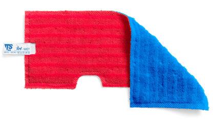 Моп TTS двухсторонний, двухцветный (красный синий) микрофибра для гладких поверхностей, влажной и сухой уборки, зеленый