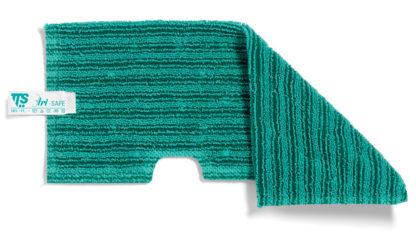 Моп TTS двухсторонний, микрофибра для негладких поверхностей, (зеленый)