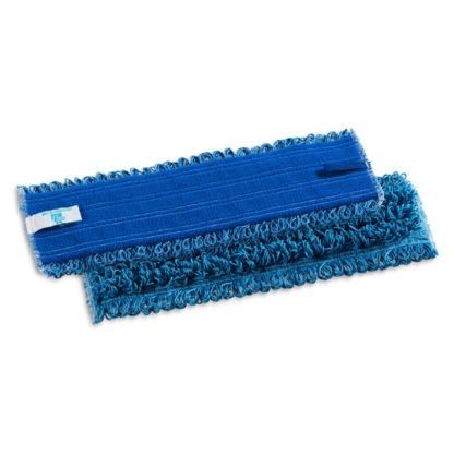 Моп TTS Microriccio, на липучках, микрофибра, 40 см., синий