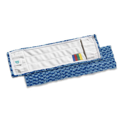 Моп TTS Microsafe, с кармашками, микрофибра, 40 см., синий