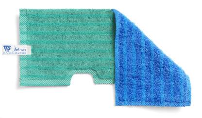 Моп TTS двухсторонний, двухцветный (синий зеленый) микрофибра для гладких поверхностей, влажной и сухой уборки, зеленый