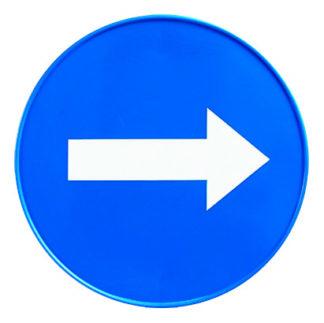 Табличка «Стрелка направления движения»