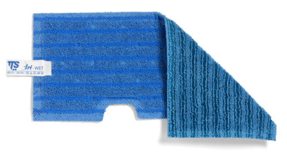 Моп TTS двухсторонний, микрофибра,для гладких и негладких поверхностей (синий)