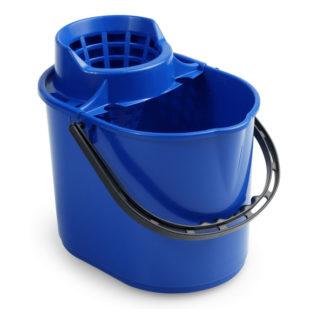 Ведро с отжимом на колесиках TTS Pit, 12 л., синее