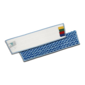 Моп TTS Microsafe, на липучках, микрофибра, 40 см., синий