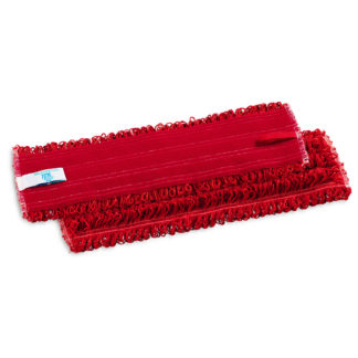 Моп TTS Microriccio, на липучках, микрофибра, 40 см., красный