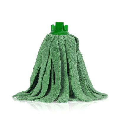 Моп «Кентукки» TTS микрофибра, с резьбовым держателем, 300 гр., зеленый
