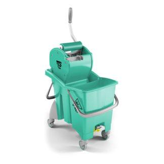 Ведро с отжимом на колесиках TTS Action Pro Dry, 30 л., зеленое, с отжимом, на колесах