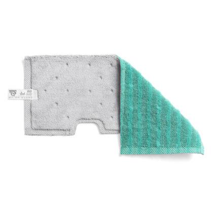 Моп TTS двухсторонний, микрофибра для гладких поверхностей, влажной и сухой уборки, 47*18,5 (зеленый)