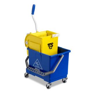 Ведро с отжимом на колесиках TTS Mini Bucket O-Key, 17 л., синее, на колесах