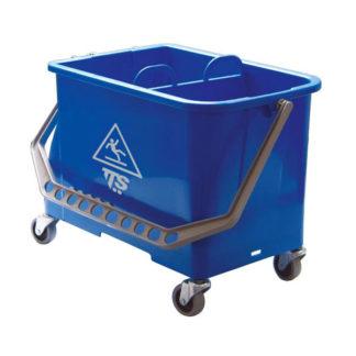 Ведро TTS 20 л., синее, на колесах