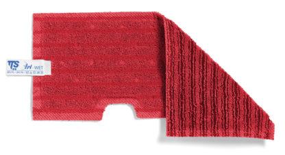 Моп TTS двухсторонний, микрофибра,для гладких и негладких поверхностей (красный)