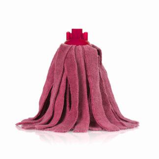 Моп «Кентукки» TTS микрофибра, с резьбовым держателем, 300 гр., красный