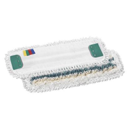 Моп TTS Tris, с держателями, микрофибра-полиэстер-хлопок, 40 см., белый