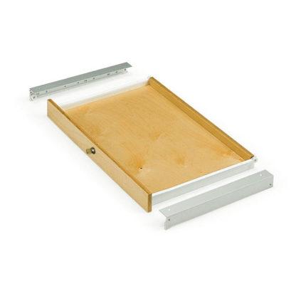Выдвижной деревянный ящик с ключом