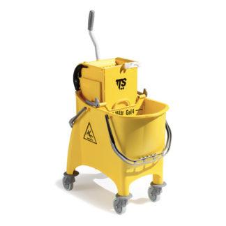 Ведро с отжимом на колесиках TTS Witty O-Key, 30 л., желтое, на колесах