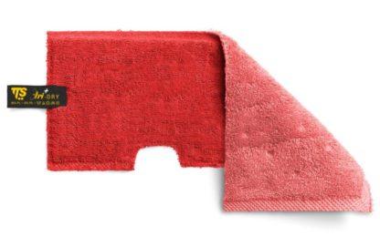 Моп TTS двухсторонний, микрофибра, гладкие поверхности и просушка (красный)