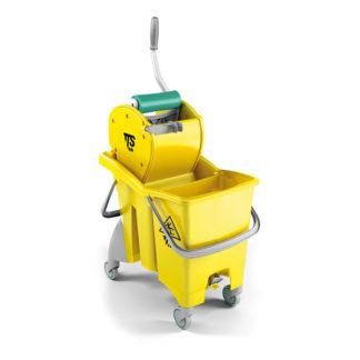 Ведро с отжимом на колесиках TTS Action Pro Dry, 30 л., желтое, с отжимом, на колесах
