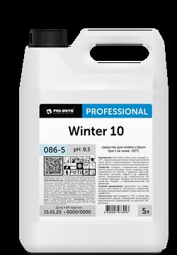 WINTER 10 средство для мойки стёкол при температурах не ниже -10°С 5л