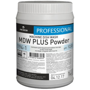 MDW PLUS Powder порошок для машинной мойки посуды в жёсткой и средней воде 1кг